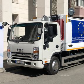 "Two specialised trucks for the collection of solid waste procured within the ""BinS"" project"